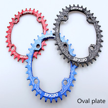 DECKAS Oval chain ring Mountain Bicycle Crank Chainwheel Aluminum BCD104 Chainring 32-38T