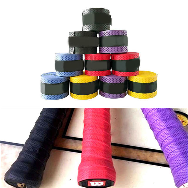 10pcs Badminton Sweat Belt Tennis Racket Band Towel Hand Glue Take-up Strap Handshake Handle Multi-color Non-slip Strap 3