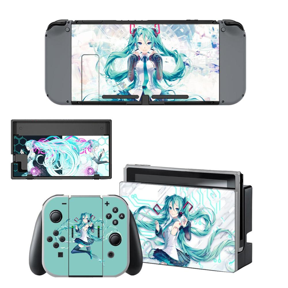 Nintendoswitch Skin Hatsune Miku Nintend Switch Stickers Decal for Nintendo Switch Console Joy con Controller Dock
