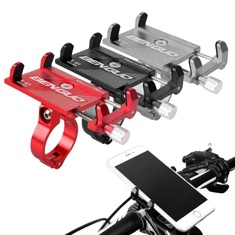 Suporte de telemóvel de liga de alumínio, patinete de bicicleta, mtb, mountain bike, suporte para celular, acessórios de ciclismo