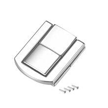 Uxcell защелка, 31 мм Ретро стиль Серебряный тон декоративные Засов ювелирных изделий чемодан коробка Catch w винты 2 шт