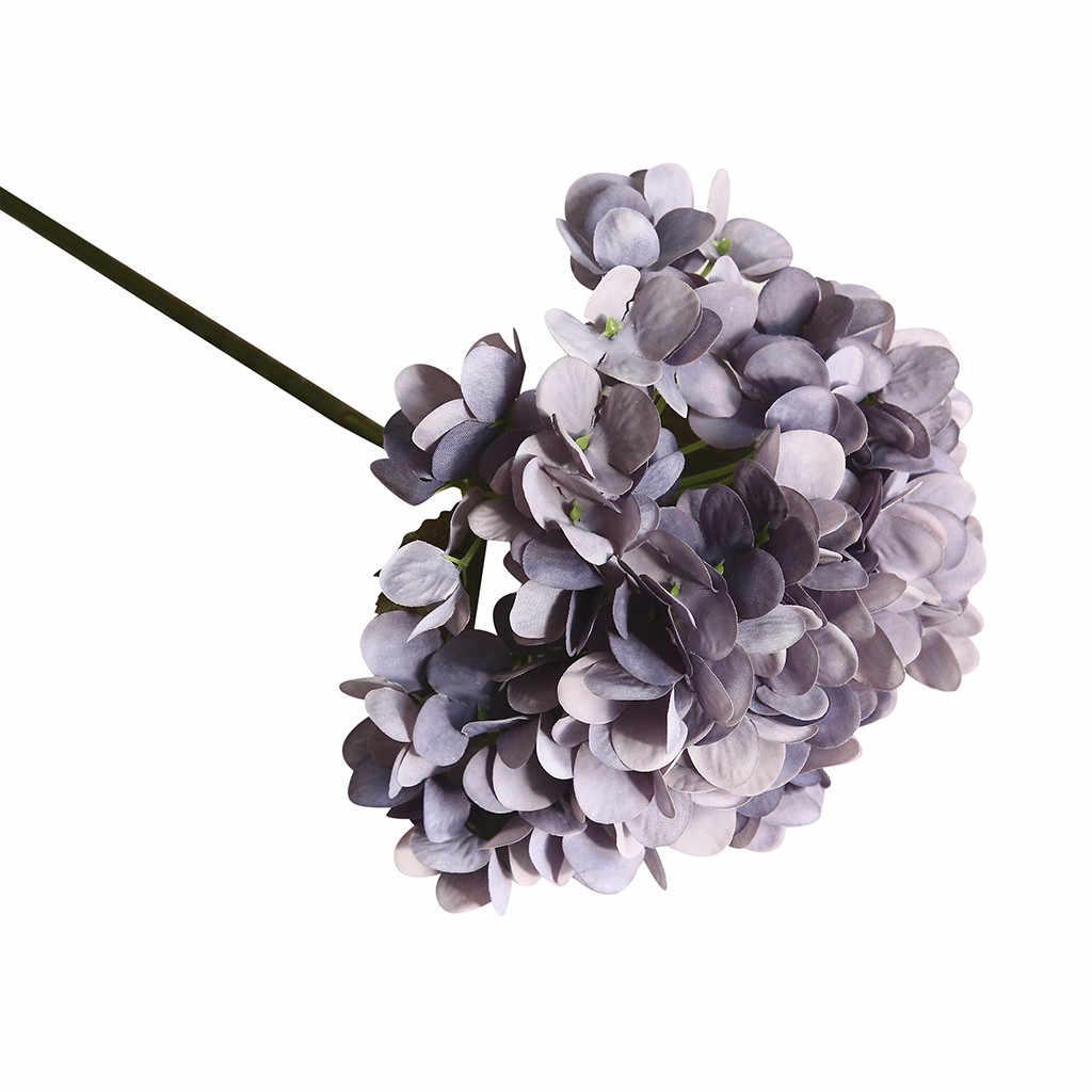 محاكاة زهر الكرز زهرة باقة الكوبية ماكارونس زهرة اصطناعية نبات بونساي زينة الزفاف INS الرياح زهرة