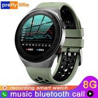 MT-3 8G Speicher Musik Smart Uhr Männer Bluetooth Anruf Full Touch Screen Wasserdichte Smartwatch Aufnahme Funktion Sport Armband