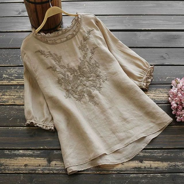 embroidered comfy t-shirt top 4
