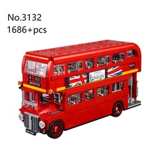 3132 1686pcs Creative DIY 3D London Bus Expert 10258 Building Blocks 10775 For C
