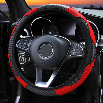 Universal Leather Car Steering Wheel Cover For Seat Leon Ibiza MK2 MK3 5F 6L 6J FR Ateca Altea Anti-Slip Dust-proof Car styling image