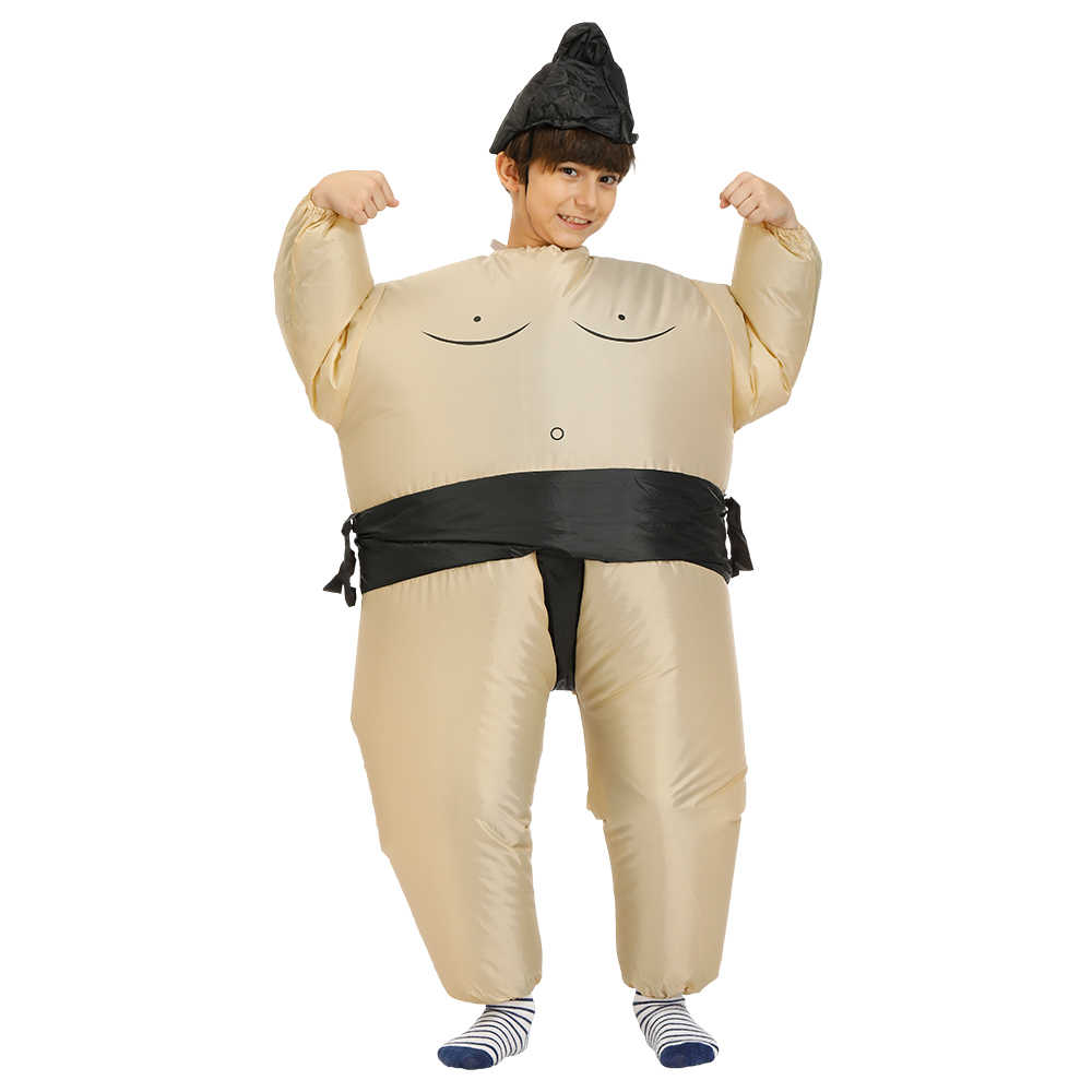 Adult Inflatable Sumo Fancy Dress Fan Inflatable Costume Suit with Hat Party