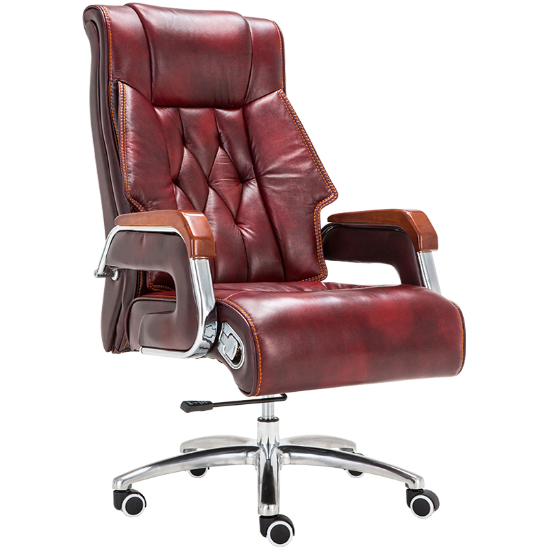 Home Computer Chair Leather Boss Chair Reclining Massage Office Chair Lifting Office Leather Executive Chair