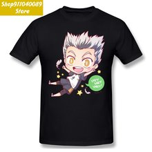 Футболки мужские bokuto kotaro футболки на День отца топы haikyuu