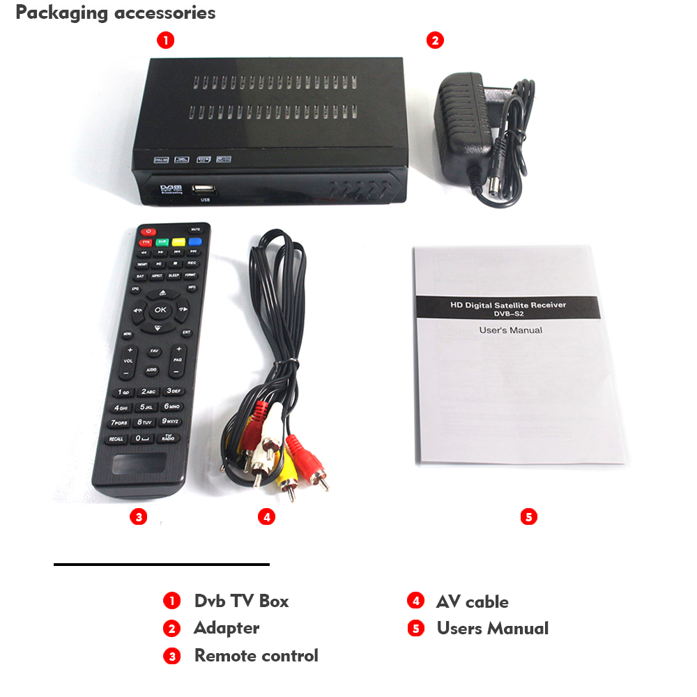 Image 5 - Vmade Fully HD Digital DVB S2 Satellite Receiver DVB S2 TV BOX MPEG 2/ 4 H.264 Support CCCAM HDMI Set Top Box For RUSSIA /Europe-in Satellite TV Receiver from Consumer Electronics