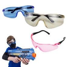 Arma de brinquedo durável óculos de segurança para nerf acessórios proteger os olhos unisex ao ar livre crianças presentes jogo wearable