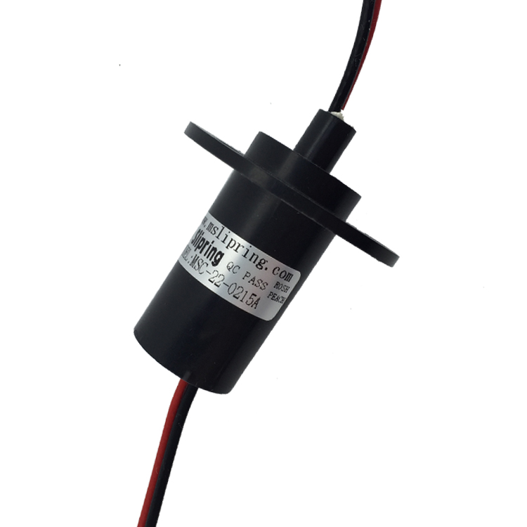 Wind Power Generation High Current Conductive Slip Ring 2-4 Way 15A Current Diameter 22mm