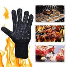 2pcs FSUP safety glove 500�C heat resistant glove BBQ 500�C glove oven kitchen glove work glove