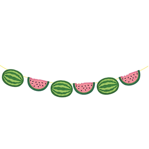 Image 5 - Leeiu owoce motyw arbuz Party dekoracji najlepszego z okazji urodzin banery arbuz ciasto wykaszarki Baby Shower 1st Birthday Party Supplies