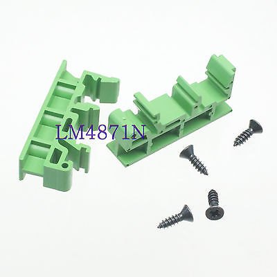 DHL/EMS 50 Pair DIN Rail Mounting Feet PCB Support ~ C45 35mm Screw Terminals Socket Base -d2