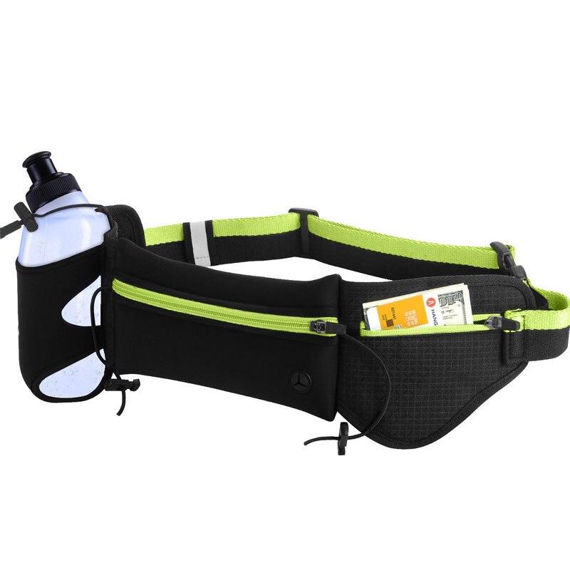 Esportes ao ar Bolsa da Cintura Ser com Garrafa de Água para o Esporte Livre Ciclismo Corrida Trail Running Cinto Bolsa Pode Caminhadas