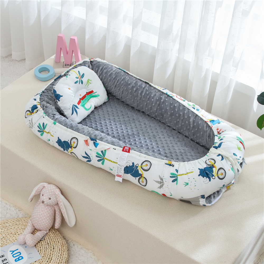 90X50cm Washable Baby Nest Bed Crib Infant Travel Bed Pillow Cushion Cradle Newborn Bed