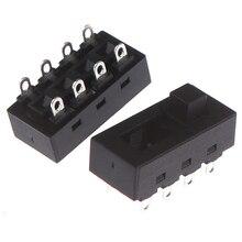 2 шт./лот черный 12A 250V 3 позиции 8 Pin Переключить ползунковый Переключатель LQ-103H фен переключатели