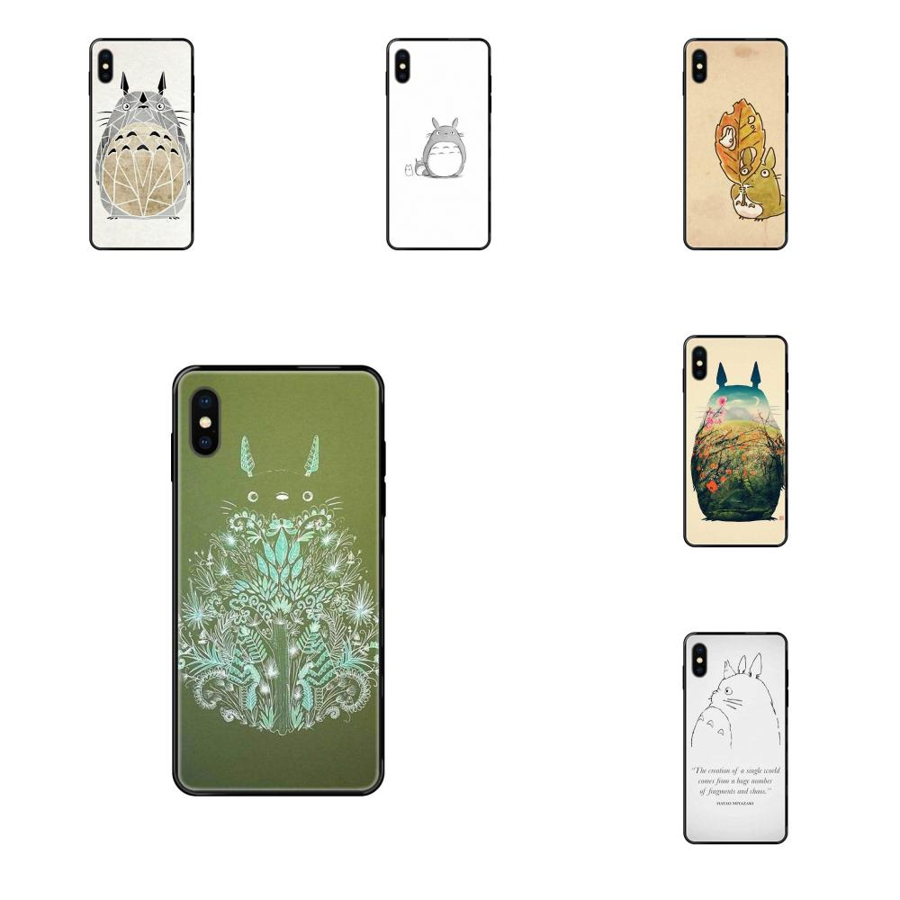 Cute Cartoon Totoro For Apple iPhone 11 12 Pro XS Max XR X 8 7 6 6S Plus 5 5S SE Painted Cover Colourful Style Design Phone Case