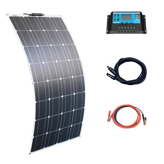 1PCS 16V גמיש פנל סולארי תאים סולריים מודול ערכת 110V 220V עבור 12V אטום/ג ל/עופרת חומצה/ליתיום סוללה מטען