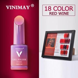 Image 1 - VINIMAY Hot Sale Red Gel Nail Polish vernis semi permanant UV Soak Off Gelpolish Nail Art Gel Varnish Manicure Nails Gel Lacque