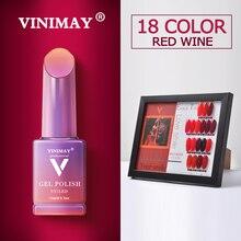 VINIMAY מכירה לוהטת אדום ג ל לק vernis חצי permanant UV לספוג את Gelpolish נייל אמנות ג ל לכה מניקור ציפורני ג ל lacque