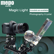 Filtro de luz prismática de cristal para estudio de fotografía, Bola de lente de foto con tornillo de 1/4 , caleidoscopio divisor de haz, filtros de objetivo de foto