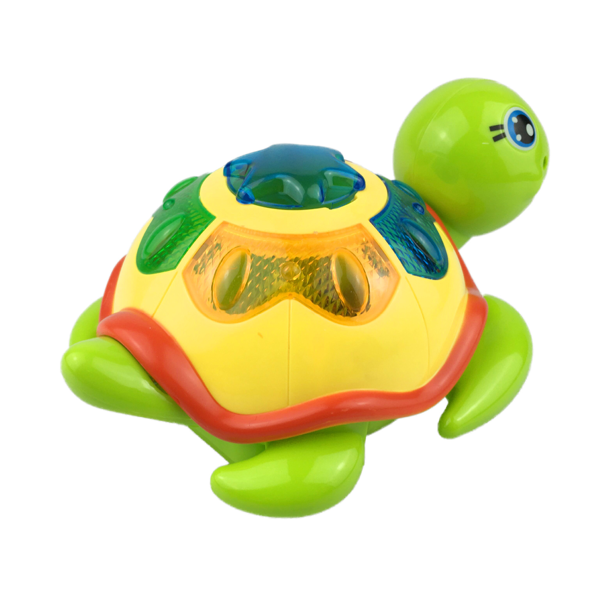 Hot Selling Street Vendor Electric Lay Eggs Turtle Electric Universal Light Educational Cartoon Toys Turtle