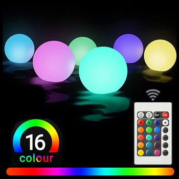 Pływające światła do basenu zmiana koloru RGB kula LED światła IP67 wodoodporna wymienna komórka przycisku jacuzzi lampki nocne zabawki do basenu tanie i dobre opinie ARAEL CN (pochodzenie) ROHS Żarówki LED Y0121 Klin basenowa W nagłych wypadkach IP68 Oświetlenie podwodne 1 year Battery