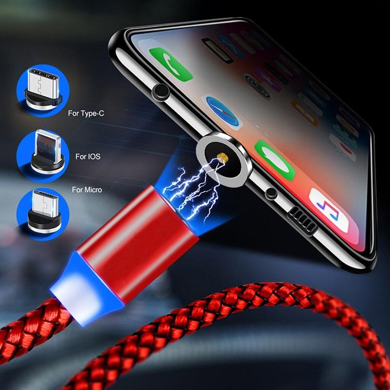 Ronde Magnetische Kabel Plug 8 Pin Type C Micro Usb C Stekkers Snelle Opladen Telefoon Magneet Charger Plug Voor Iphone 1M Laadstroom Cord 6