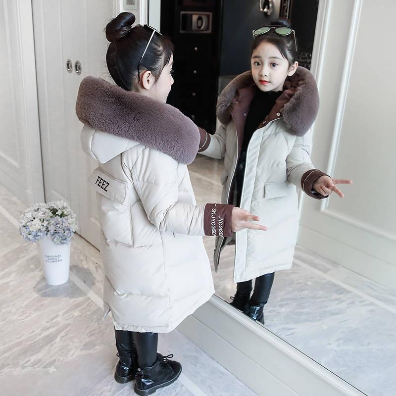 Детская зимняя пуховая куртка из хлопка, новинка 2020, модная одежда для девочек, детская утепленная парка, зимний комбинезон с капюшоном, вер...