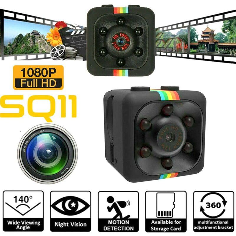 Удобная мини-камера SQ11, HD 1080P Датчик, инфракрассветильник, видеокамера ночного видения, видеорегистратор движения, DVR, микро-камера, Спортивн...