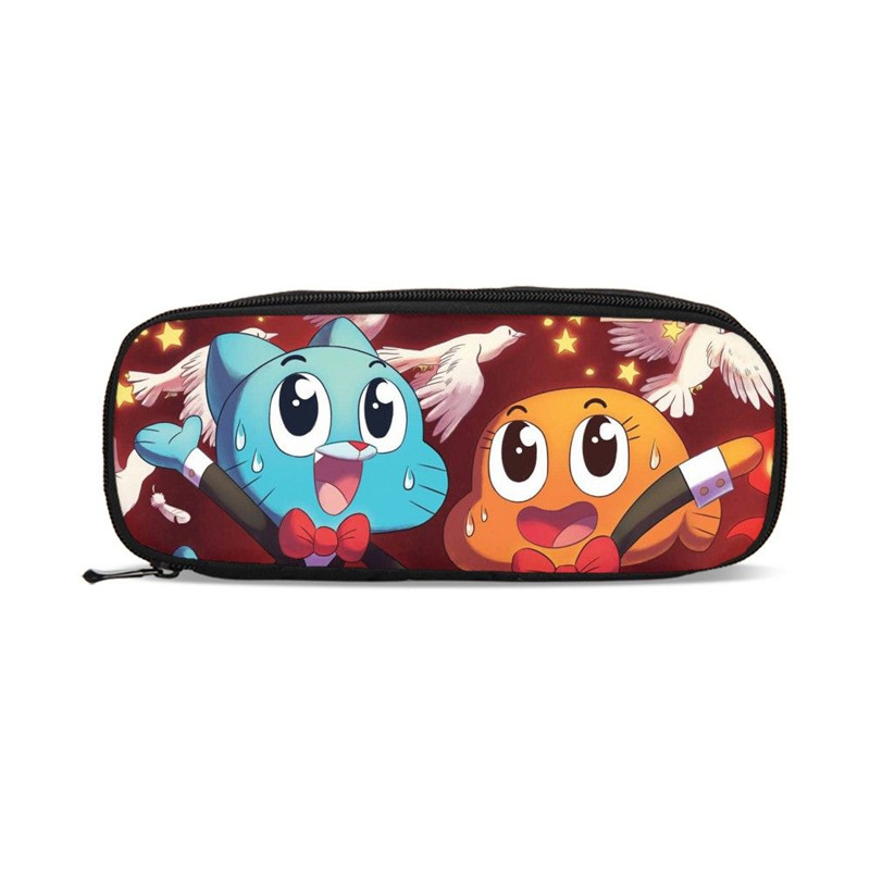 Purses Amazing World-Of-Gumball Boys Cute Cartoon Pencil-Pouch Girls for 3d-Printing