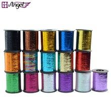 Heißer! 60 rolls/lot 15 farben optional, 2000 meter/rolle, glitz Sparkling Blenden farbige Lametta für cosplay haar braid erweiterung