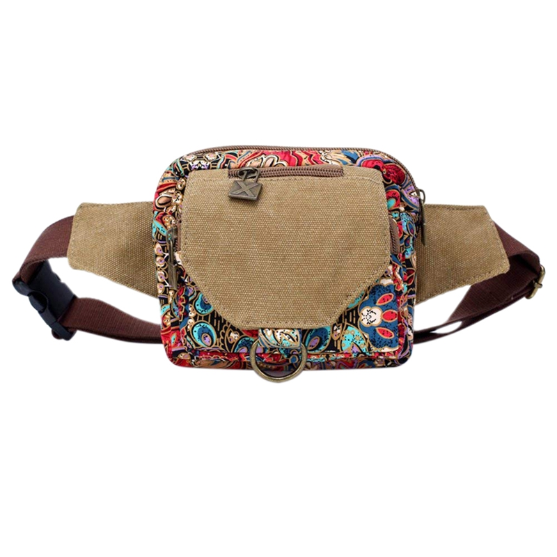 NEW-Canvas Bag Retro Personality Original National Style Bag For Woman