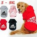 Зимняя толстовка с капюшоном для собак среднего и крупного размера, Флисовая теплая толстовка с капюшоном, пальто для Лабрадора, французско...
