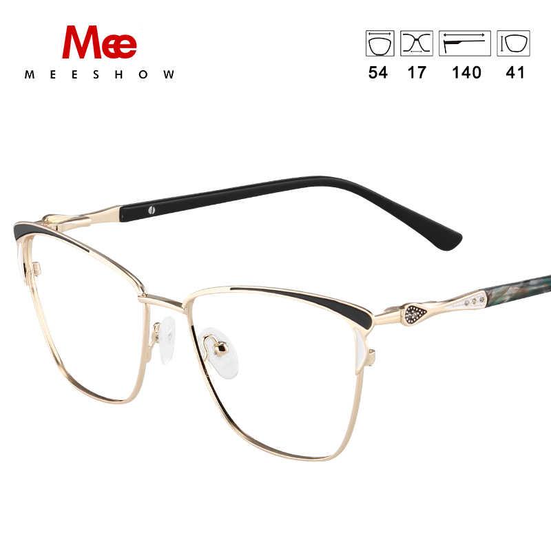 2020 MEESHOW Óculos de Armação Homens mulheres praça Prescrição Armações de Óculos de Miopia Feminino Limpar Eyewear Dos Espetáculos de vidro
