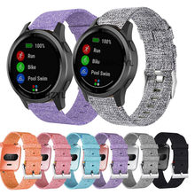 Новый нейлоновый холщовый ремешок для смарт-часов Garmin Vivoactive 4 3 245 Смарт-часы с заменой ремешка ремешок для смарт-часов Garmin Vivoactive 4S браслет
