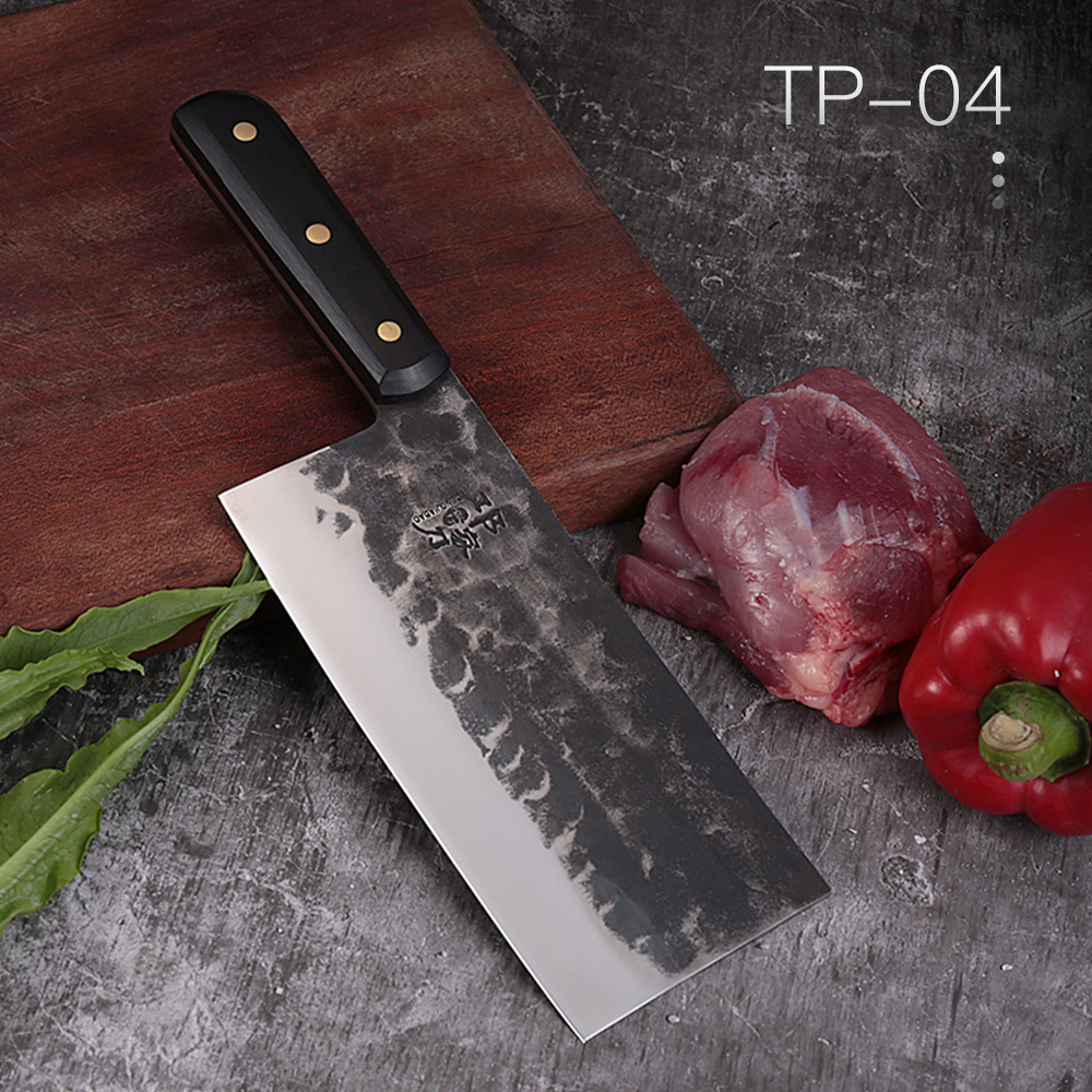 DENGJIA Carbon Steel Knife Forged High Quality Slicing Knife Handmade Cleaver Master Chef Knife