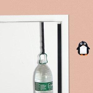 Image 3 - Estantes de ganchos para puerta perforados, colgador de pared creativo para el hogar, colgador de ropa