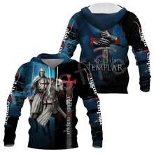 Толстовка с капюшоном knight templar для женщин и мужчин пуловер