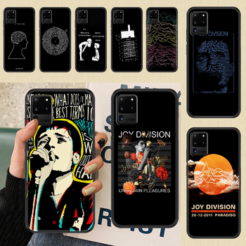 Joy Division Ian Curtis Phone case For Samsung Galaxy Note 4 8 9 10 20 S8 S9 S10 S10E S20 Plus UITRA Ultra black silicone prime image