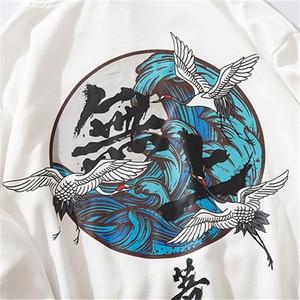 Image 5 - Bebovizi 2019 Hip Hop Giapponese Gru Felpe Felpa Harajuku Streetwear Cotone Con Cappuccio Pullover Oversize Giappone Abbigliamento 5XL