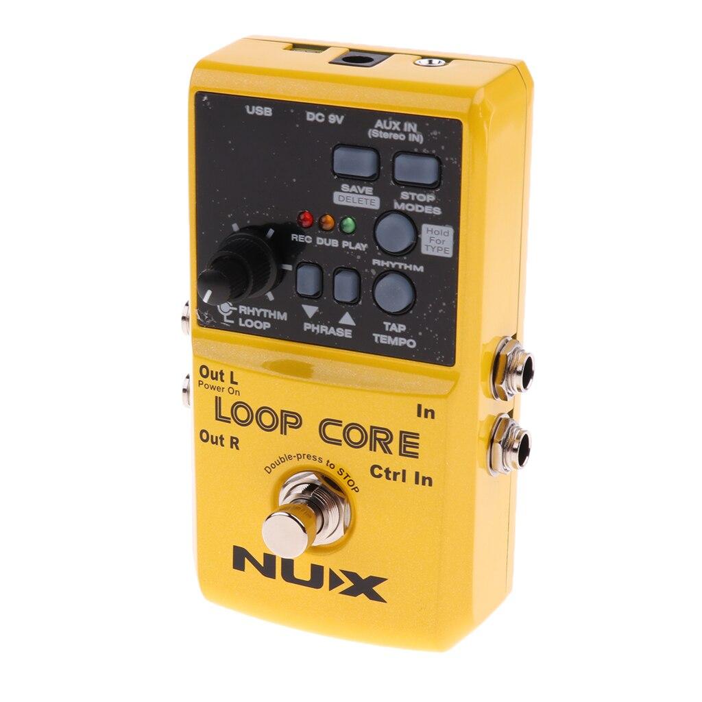 NUX Loop Core guitare effecteur 99 mémoires utilisateur processeur pour accompagnement 4.72x2.56x1.30 pouces