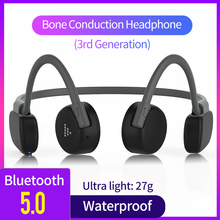 Waterproof & Sweatproof Bluetooth Wireless Headphones Bone Conduction Earphone O