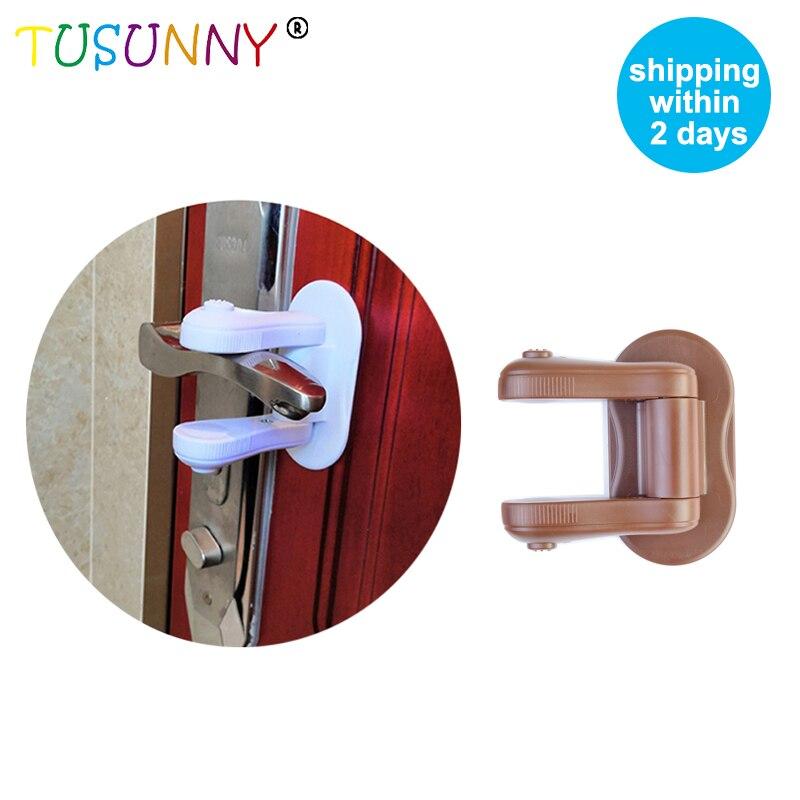 TUSUNNY 1PC Door Lever Lock,Baby Proofing,Door Handle Lock,Door  Protection For Children Baby Safety Lock