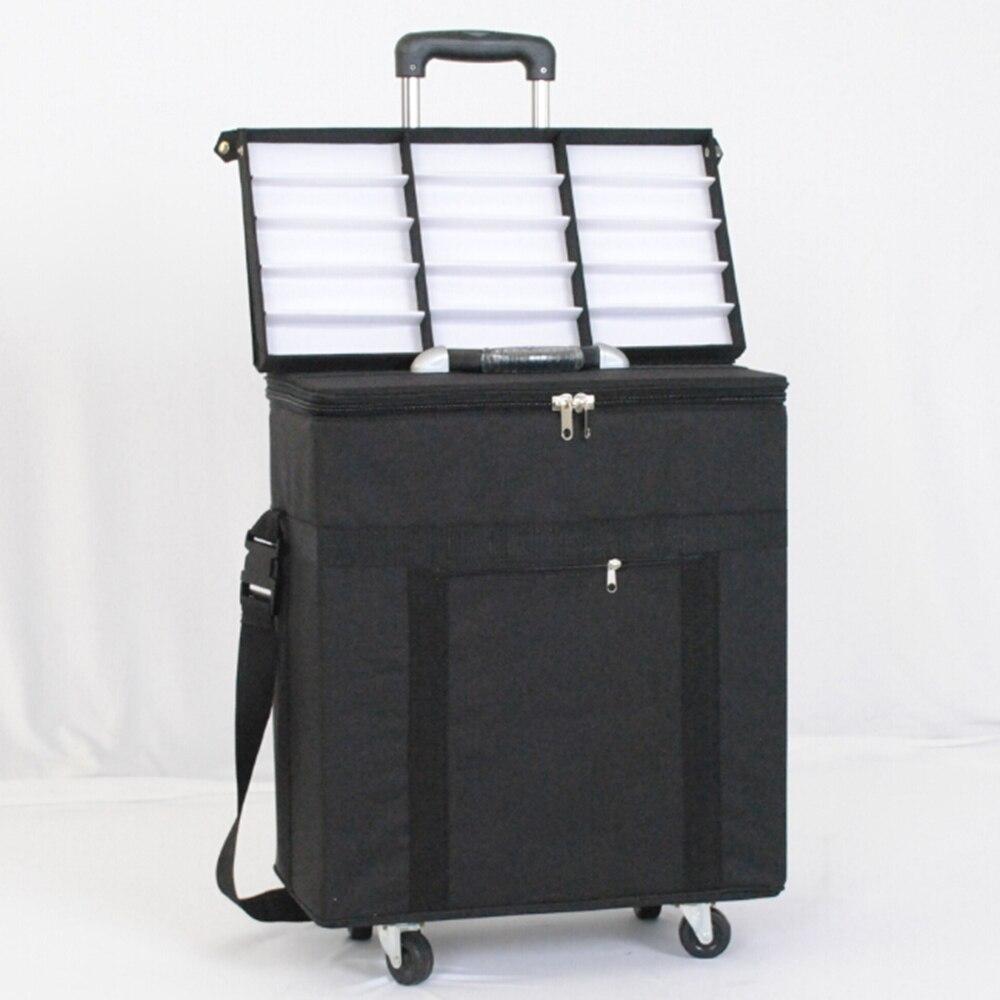 Gafas caja de almacenamiento maleta gafas muestra bolsa con capacidad de 180 piezas oftálmica marcos o 96 piezas gafas - 6