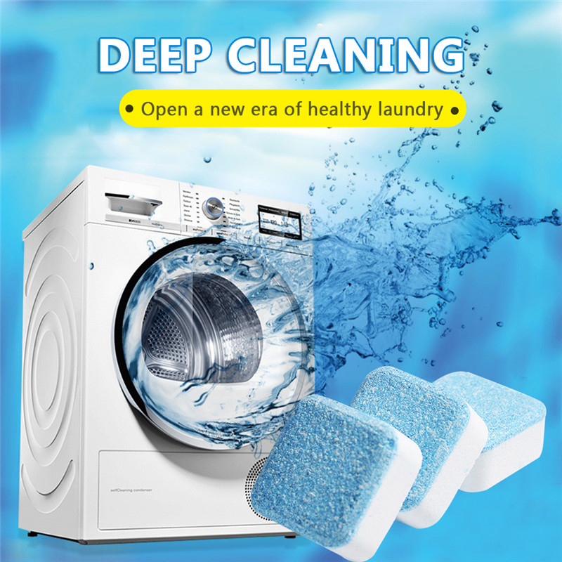 10pcs Washing Machine Cleaner Washer Tank Clean Detergent Effervescent Tablet  Durable Deep Cleaning Chemicals Remover