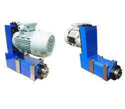 Bt30, mt3, er25 chato, moagem, perfuração, cabeça de energia máquina ferramenta eixo + 0.75kw motor