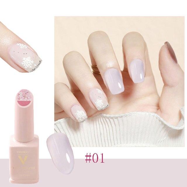 Tender Pink Cherry Blossom Jade Removable Nail Polish Gel Nail Jelly Powder Nail Supplies Jelly Glue Nail Supplies TSLM1 6